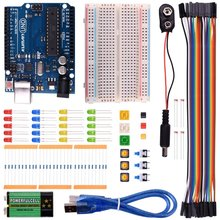 Miroad Complete Starter Kit for Arduino with UNO R3 AVR MCU Beginner Learner Up 20 Components ( with tutorials) K22