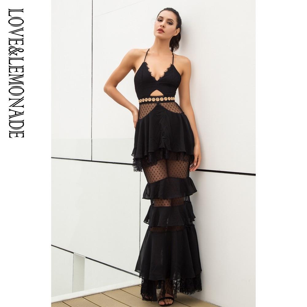 Love&Lemonade Layered Flounced Chiffon Dress LM0926