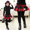 girls leggings 2017 Winter children clothing girls clothes thick velvet leggings culottes tutu skirt pants kids clothes 2-15Y