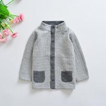 Весенне-Осенняя детская однотонная хлопковая куртка-кардиган