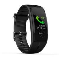 QS100 Couple Smartwatch Waterproof Multi color Sport Bracelet Blood Pressure Heart Rate Wristband Bluetooth Activity Tracker