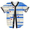 Ventana de Spam Jersey MODA hombre camisas overshirt camisa sudor 3d Streetwear tops con ESTILO de Un Solo Pecho de verano Tees