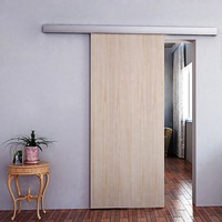 6.6 FT aluminium barn sliding wood door for interior door