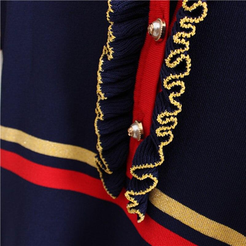 Farfalla Blue Del Manicotto Maglieria Black E Vestiti Maglia Nuovo A navy Akslxdmmd Lh1172 Lavorato Autunno 2019 Della Europa Inverno Abiti Vestito Delle Di Stile Donne xT4qSHw
