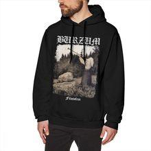 Burzum Sudadera con capucha burzum filosof Cover Ver2, Jersey de algodón de longitud larga, Sudadera con capucha holgada de invierno para hombre, sudaderas grises