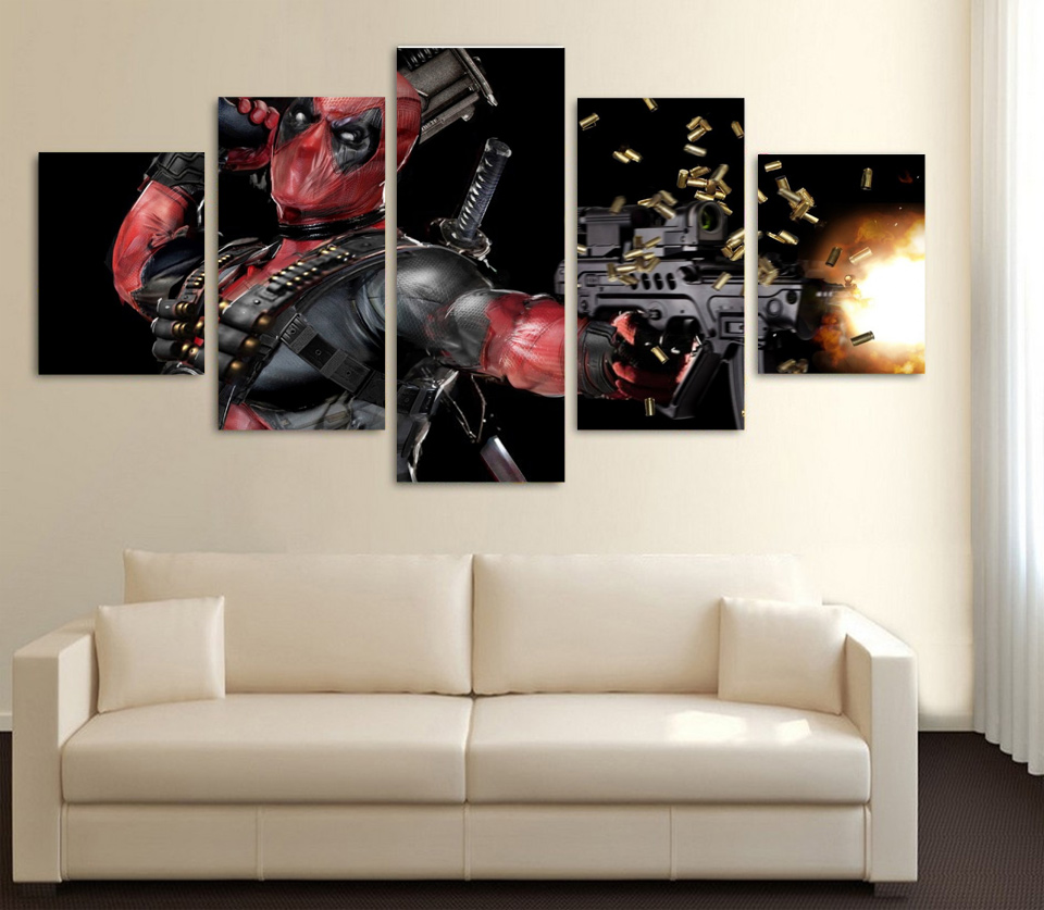 Modular Canvas Painting Wall Art Pictures Frame Living Room Decor 5 ...