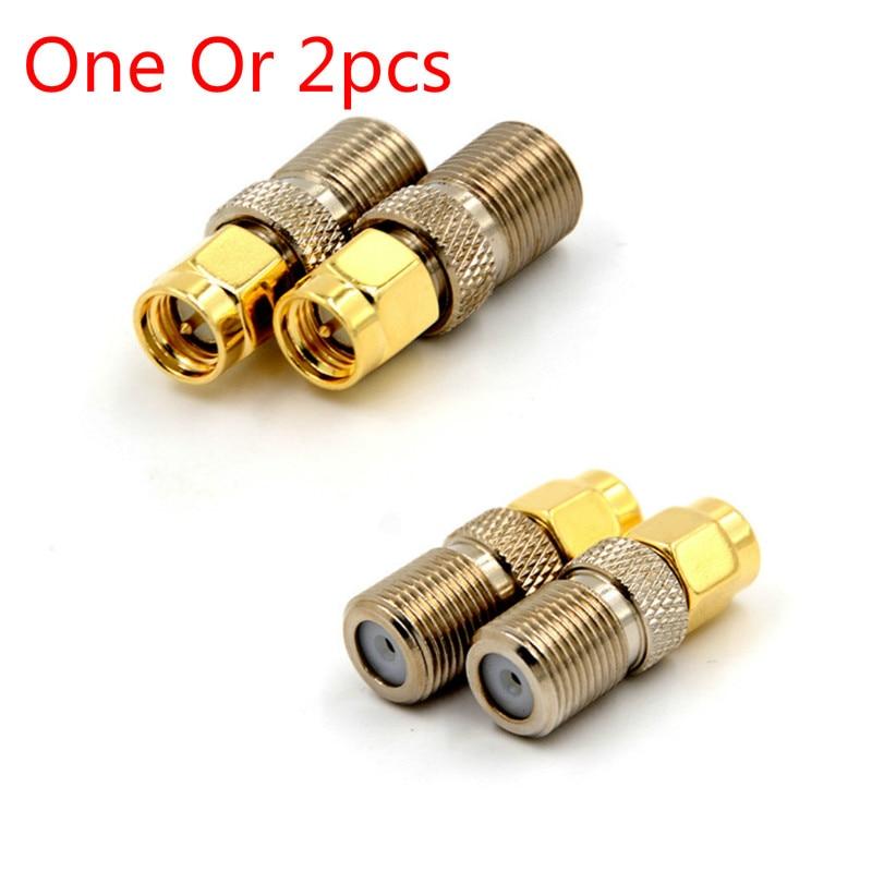 Bir veya 2 adet F tipi dişi Jack SMA erkek fiş düz RF koaksiyel adaptör F konnektör SMA dönüştürücü altın sesi