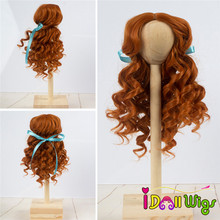 Doll Wigs Hair Heat Resistant Synthetic Deep Curly Brown Hair for 1/3 1/4 1/6 BJD/SD Dolls jd243 1 3 sd synthetic mohair doll wigs 8 9inch teddy bear curly bjd hair style