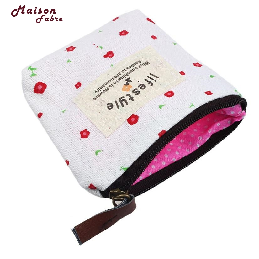 Maison Fabre Fashion Small Canvas Purse Zip Wallet Lady Coin Case Bag Handbag Key Holder Dropshipping Mar08