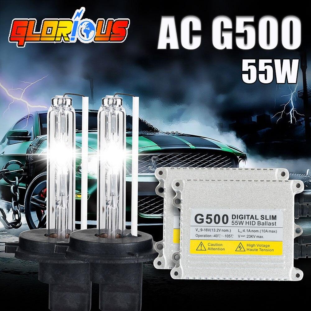 ФОТО H4 xenon hid kit xenon  H4-1 G500 55W  4300K 5000k 6000K slim ballast HID xenon kit 55W headlight bulbs,kit xenon h4 55w