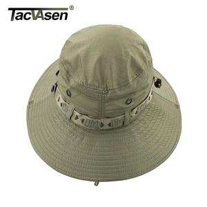 Image 4 - TACVASEN צבא גברים טקטי צלף כובעי דגי דלי כובעי Boonie כובע קיץ שמש הגנה ספארי כובע צבאי טיול האנט כובעים כובעים