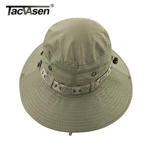 Image 4 - Тактические мужские тактические снайперские шляпы TACVASEN, шляпа ведро с рыбой, летняя шляпа от солнца, шляпа для сафари, военные походные охотничьи шапки