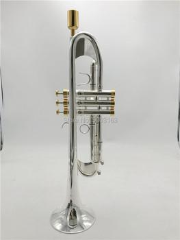 BULUKE nowa trąbka 190S-77 instrument muzyczny Bb płaska trąbka klasyfikacja preferowana Slivered plated trąbka profesjonalne wykonanie tanie i dobre opinie Silver Plated Stainless Steel Yellow Brass Customized