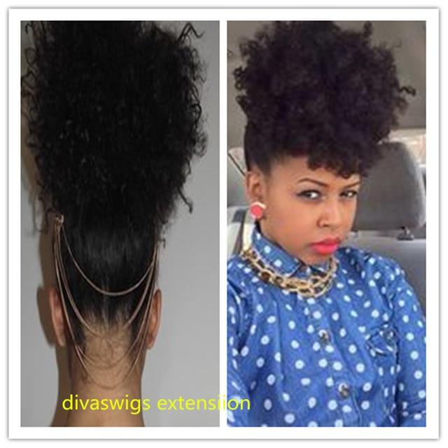 Kinky Curly Ponytail Natural Human Virgin Hair Ponytail Afro