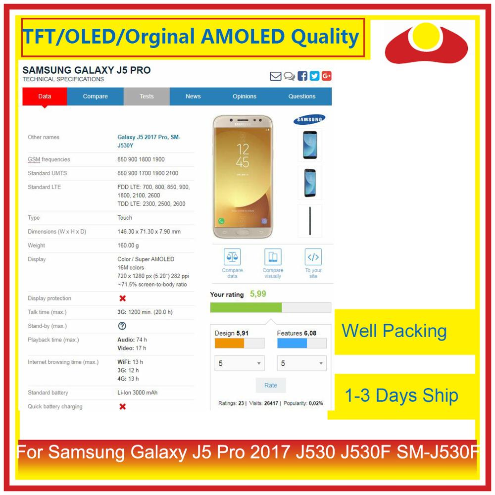 Image 5 - ORIGINAL For Samsung Galaxy J5 Pro 2017 J530 J530F SM J530F LCD Display With Touch Screen Digitizer Panel Pantalla Complete-in Mobile Phone LCD Screens from Cellphones & Telecommunications