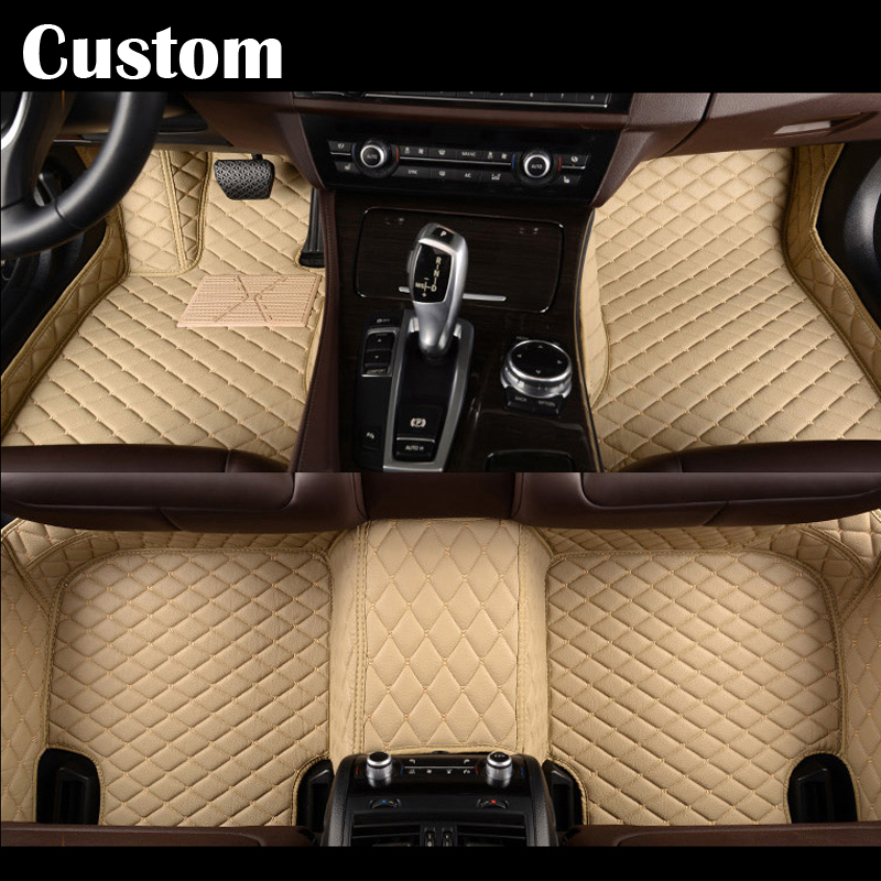 Car Floor mats For Mitsubishi Pajero sport V73 V93 ASX Lancer EX Outlander  EX Galant Grandis Car Foot mats Custom carpets rugs