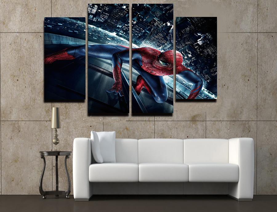 Popular spiderman cartoon pictures buy cheap spiderman for Fallout 4 canvas painting