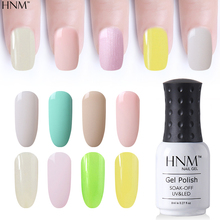 HNM 8ML Pure Color Gel Varnish Soak-Off UV Gel Nail Polish Light Color Primer Nail Lacquer Long-lasting Nail Art Vernis GelLak