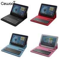 Cewaal Portable Universal Wireless Bluetooth Keyboard With Leather Case For 7 8 Inch Tablet For Android