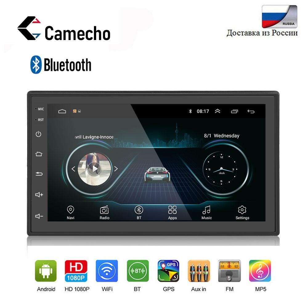 Camecho Car Multimedia Player Andriod 2 din 7 Touch Screen Bluetooth GPS Navigation USB WiFi FM AM Autoradio Car Backup Monitor