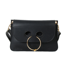 2016 Women Autumn Winter Fashion Leather Handbags High Quality Leather Crossbody Bag Hot Sale Round Ring Shoulder Messenger Bags