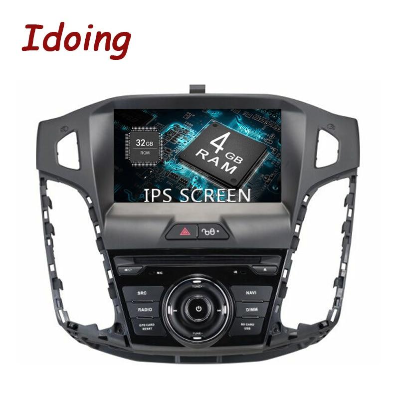 Idoing 1Din Android 8.0 Pour Ford Focus 2012-2014 4g + 32g 8 Core 8 IPS écran Volant De Voiture GPS Multimédia Lecteur Rapide Boot