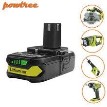 Powtree 18V 2500mAh P107 バッテリー交換リョービ P104 P105 P102 P103 P107 コードレスリチウムイオンバッテリー L30