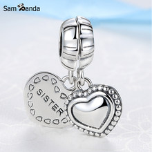4202b8979 Authentic 925 Sterling Silver Charm Bead My Special Sister Two Part Dangle  Charms Fit Pandora Bracelets Diy Women Jewelry
