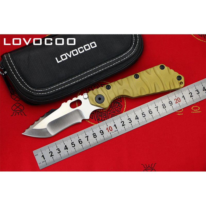 LOCOVOO ST SMF 2017 High Qualit Flipper folding knife D2 blade Titanium handle Outdoor camping hunting pocket knives EDC tools rinnai smf 42 квт купить