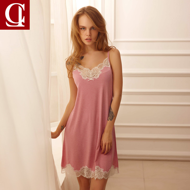 Women Nightwear Night Dress Lady Cotton Nightgown Female Sleeveless Lace Nighty Sexy Sleepwear Sleep Sleepshirt Sexy lingerie