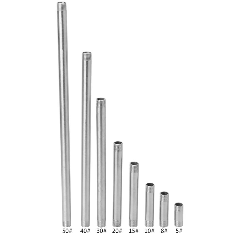 Stainless Steel Shower Rod Extension Tube Extended Bar Pipe Water Pipe Fittings