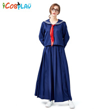 2019 new long sleeve pants navy clothing college wind red scarf blue Japanese sailor clothes Halloween party role play