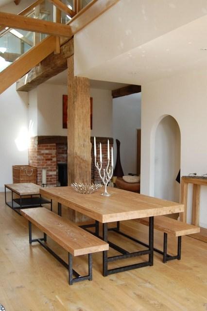 Eettafel stoelen landelijk eettafel met glazen blad stoel for Eettafel en stoelen