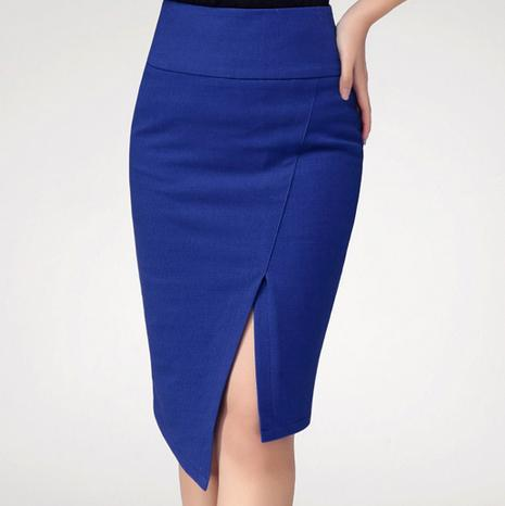 4ba17affbd5 Women Casual Slim Plus Size 3XS-8XL Sexy Split Midi Pencil Skirt Knee Length  Office Ladies Asymmetrical Bodycon Slit Wrap Skirts