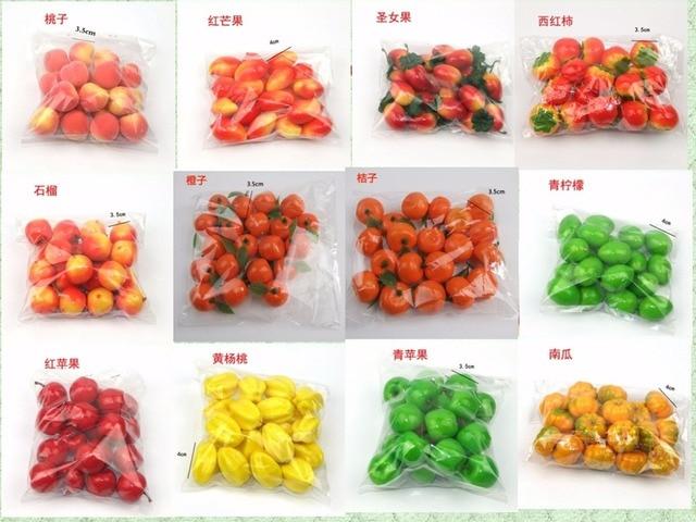 25 tipos de opci n de mini frutas y verduras artificiales - Frutas artificiales para decoracion ...