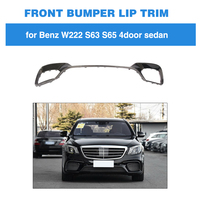 Car Styling Front Lip Spoiler Bumper Chin Apron for Mercedes Benz S Class W222 S63 S65 AMG 4 Door 2018 2019 Carbon Fiber