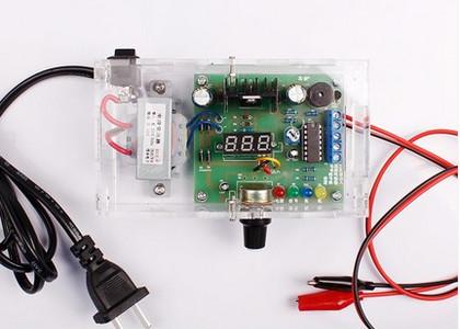 Conselho regulador de tensão ajustável lm317 kit eletrônico peças diy kit de alimentação do transformador