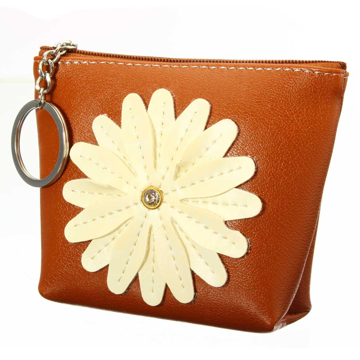 Aequeen Flower Coin Purse Change Wallet Girl Mini Wallets Key Storage Bag Children Gift Leather Money Purses Ladies Zipper Pouch