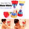Bebés y Niños Juguete Ducha Cilindro Giratorio De Agua Divertida Taza de Observación