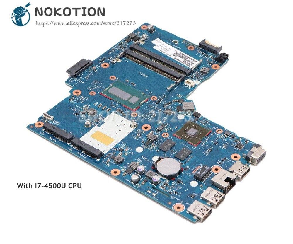 NOKOTION pour HP 248 G1 ordinateur portable carte mère I7-4500U CPU Radeon HD 8670 M gpu 746032-601 746032-001 6050A2608301-MB-A02