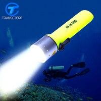 Waterproof Super T6 LED flashlight Brightness White Light marine flash light underwater scuba Diving Flashlamp Free shipping