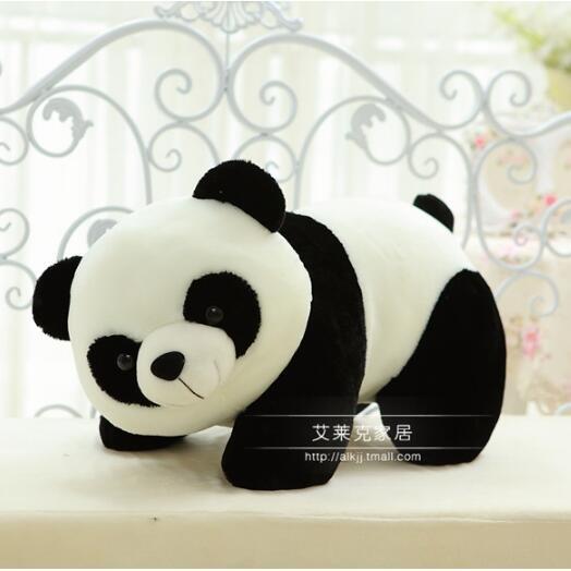 1pcs big size Cute Panda toy/gift 50cm Soft Animal Plush Stuffed Panda Toy Chinese Gift Free Shipping stuffed animal 44 cm plush standing cow toy simulation dairy cattle doll great gift w501