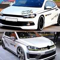 Motor Sport Racing Waistline Stripes Decal Car Door Side Stickers Waist Lines Decals For Volkswagen POLO Golf MK6 Scirocco