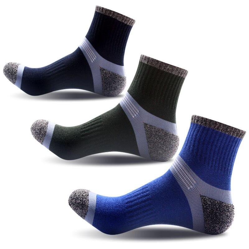 3 Pairs Set New Mens Sport Soft Nap Socks Quarter Cotton Ankle Sport Sock Cycling Bowling Camping Hiking Sock 3 Colors in Cycling Socks from Sports Entertainment