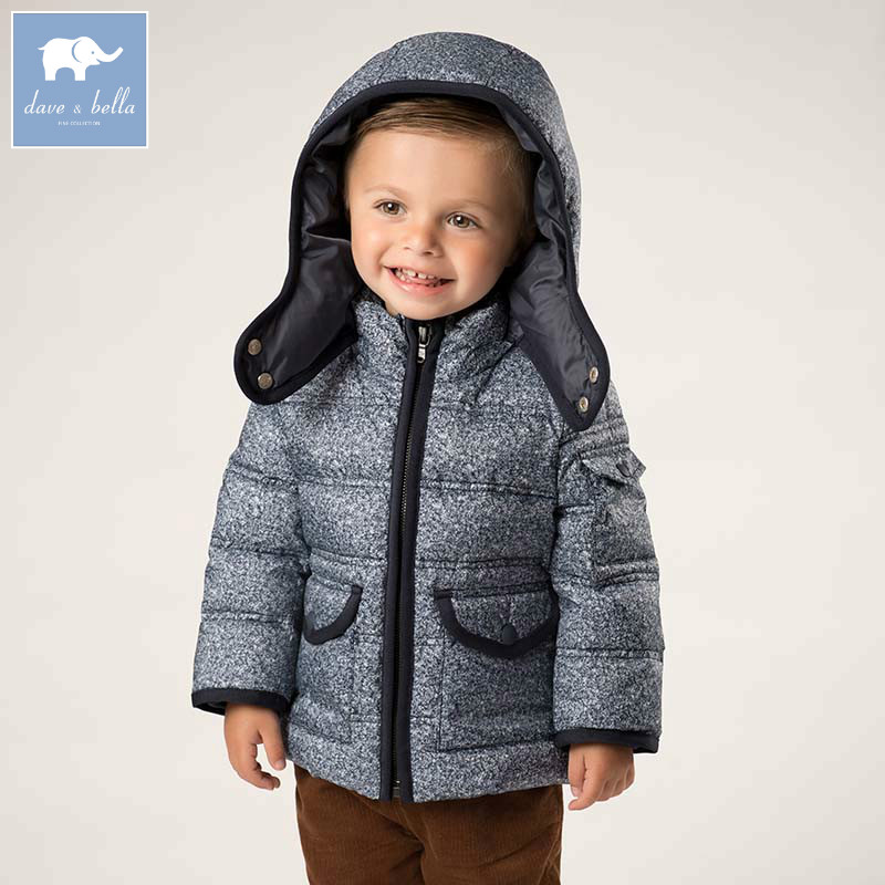 DB5523 dave bella winter baby boys down jacket children white duck down padded coat kids hooded outerwear db4088 dave bella baby girls padded clothing hooded padded coat outerwear kids down jacket