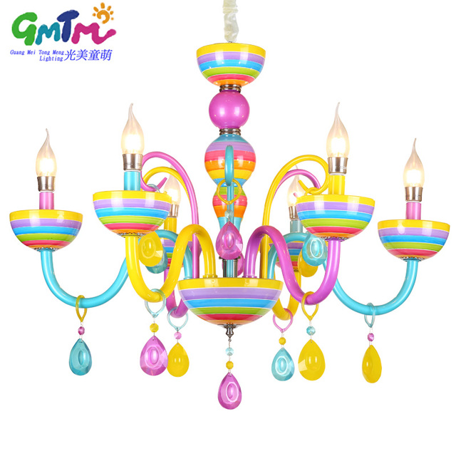 Bunte Kronleuchter Glas Kristall Moderne Für  Restaurant/schlafzimmer/esszimmer/wohnzimmer Kinder Kerze Lampe