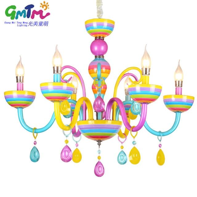 Colorful Chandelier Glass Crystal Modern For Restaurant Bedroom Dinning Room Living Children