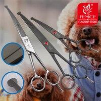 Fenice высокое качество 4,5 7,0 дюймов Пэт собака сталь безопасно круглые наконечники Топ уход маленькие ножницы инструмент Изогнутое лезвие 15 г...
