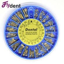 Dental screw post gold plated screw post 120pcs  dental materials for dentist tool dentistry