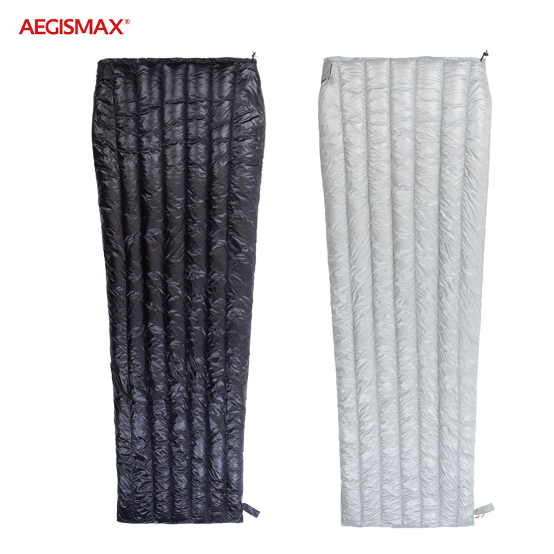 Aegismax E Series Ultralight Goose Down Sleeping Bag Backpacking Camping Hiking Summer Spring&autumn Rectangular Bags M / L Profit Small